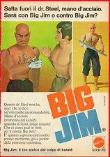 Pubblicità Advertising MATTEL 1975 BIG JIM  Dr. Steel mano d'acciaio