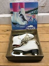 Lake Placid 683 size 9 vintage womens figure ice skates With Original Box