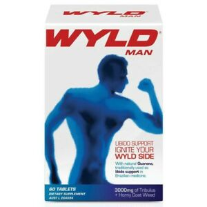 WYLD Man 60 Tablets Horny Goat Weed Libido Sexual Function Support for Men
