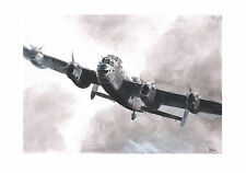 Limited Edition Aviation Print Lancaster Bomber B1 Mk.I Keith Burns