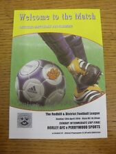 13/04/2014 Redhill League Sunday Intermediate Cup Final: Horley v Perrywood Spor