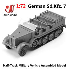 1/72 4D Germany SD.KFZ.7 Assemble Model Toy Car Armored Car+10 Soldier Model