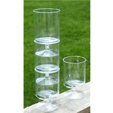 10 x Clear Reusable Stacking Wine Glasses