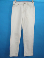 Jeans White Pants Tommy Hilfiger Womans 2 Cotton Small Tapered Mid Rise Flag