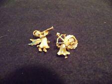 Vintage Holiday Gold Cherub/ Angels Pins