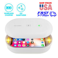 UV Light Phone Sanitizer Qi Wireless Charging Case Sterilizing Box Kills Virus