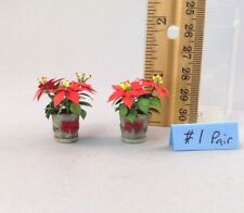 Dollhouse miniature 1/12th scale poinsettias #1