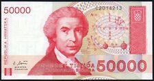 1993 Croazia 50000 DINARA BANCONOTA * C 2014213 * AUNC * P-26A *