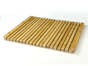 Luxury Natural Bamboo Wood, Rectangular Anti Slip Duckboard  Bath / Shower Mat