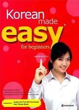Korean Made Easy for Beginners w/ CD Free Ship 9788972557975