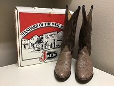 Justin Vintage Cowboy Western Leather Boots Womens Size US 7 A