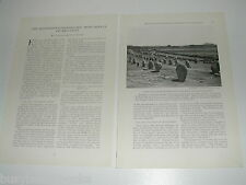 1923 magazine article on prehistoric stone monuments Brittany