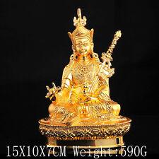 Tibet Tibetan Alloy Buddhism Buddhist Guru Rinpoche PadmaSambhava Buddha Statue