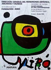 Fundacio Joan Miro Offsett Pintura Lithograph Poster 1978 Lim Ed. 5000  Madrid