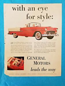 1955 General Motors Chevrolet Bel Air Convertible Color Magazine Full-page Ad