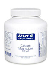 Pure Encapsulations Calcium Magnesium (citrate) 80 mg 180 vcaps