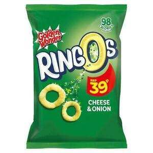 Golden Wonder Ringos Cheese and Onion Crisps 18g 24 Pack