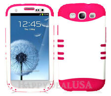 KoolKase Hybrid Silicone Cover Case for Samsung Galaxy S3 i9300 - White (P)