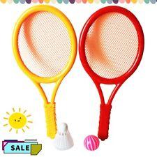 Kinder Badminton Tennis Federball 2 Schläger 2 Bälle Freizeit Outdoor Spielzeug