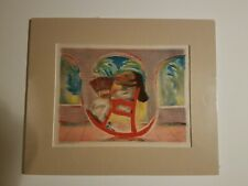 RARE~ JEAN CHARLOT-PERSONALLY SIGNED- 1933 PICTURE BOOK /HAND COLORED LITHOGRAPH