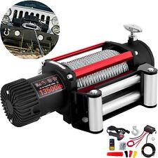 Treuil électrique 12V Télécommande 6T Corde Traction 13500lbs 5KW