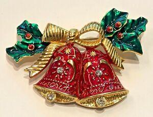 Joan Rivers Holiday Bells Pin