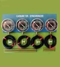 FOUR motorcycle carburetor CARB SYNCHRONIZER VACCUM GAUGE TOOL sync gauge Suzuki