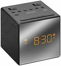Sony ICF-C1T Gradual Wake DUAL Alarm Clock FM/AM Radio Back-Up Battery - BLACK