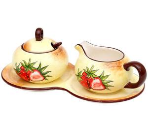 Sigro Milch und Zucker 2er Set Dolomite  Erdbeere 23 x 12,5 x 8 cm 226381