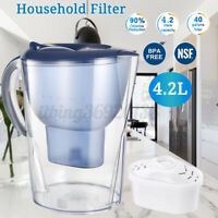 10 Cup Household Desktop Water Filter Purifier BPA-Free W/ Electronic Filt Odor