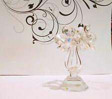 crystal home art decor 4 flowers natural austrian crystal