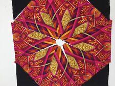 BENARTEX LUMINOSITy 12 PRE-CUT Kaleidoscope QUILT BLOCK  KIT PINK ORANGE Black