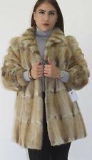 Pelz- Fell  Jacke Bisam Natur  Konfektionsgröße: 44 - 46 fur jacket мех pellicc