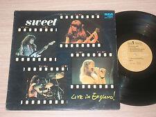 SWEET - LIVE IN ENGLAND! - LP 33 GIRI ITALY