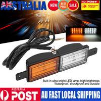 2X Sealed Bullbar Lights Front Indicator Park LED Bull Bar Light Tail Light Lamp