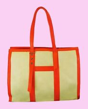 BIG BUDDHA Tangerine & Cream Leather Shoulder Tote Bag Msrp $95 * PRICE REDUCED