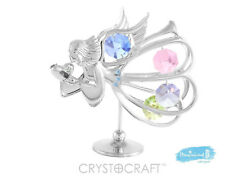 Angel Heart Crystocraft Swarovski Strass Crystal Ornament Keepsake Christmas BN