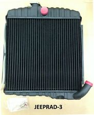 "JEEP 1965 - 1968 CJ5 CJ6 DJ5 DJ6 225 V6 17"" BRASS RADIATOR NEW!!"
