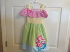 Rare Editions Girls Size 5 Seersucker Mermaid Colorful Dress