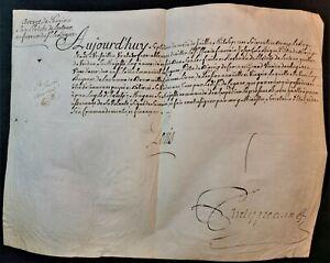 KING LOUIS XV SIGNED PENSION PATENT IN FAVOUR OF FRANCOIS JOSEPH LE BIGUE - 1772