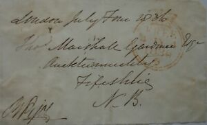 Free Front: 1836 to Auchtermuchty from David Pigot, Irish judge & Kings Counsel.
