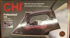 CHI Professional Clothing Iron Ceramic Black Powerful Steam - 13104 - New!!!