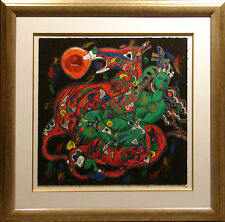 Tie Feng Jiang  Freedom Suite West on paper Hand Signed NEW Custom Frame!
