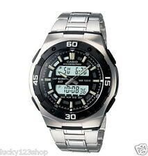 AQ-164WD-1A Black Casio Men's Watch 100M Stopwatch Stainless Steel