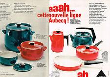PUBLICITE ADVERTISING 024   1969    AUBECQ  casseroles ligne AAAH ( 2 pages)