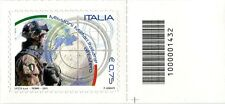 2011 francobollo Missioni Militari Italiane all'Estero SX CODICE A BARRE 1432