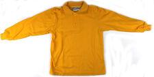 Long Sleeve Kids Polo Shirt Gold Size 6 8 10 12 14 16 Australian Made