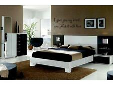 """I GAVE YOU MY HEART Vinyl Wall Decal Words Lettering Quote Bedroom Home 24"""""""