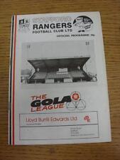18/01/1986 Stafford Rangers v Bishop Auckland [FA Trophy] (Slight Tear). Item in