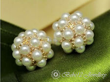 Pearl Sphere/Ball/Stud Earring/White gold/Rose gold/RGE218